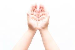 Mulher asiática que faz vários gestos de mão Foto de Stock Royalty Free