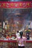 Mulher asiática que Praying Fotografia de Stock