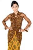 Mulher asiática tradicional Fotos de Stock Royalty Free