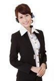 Mulher asiática da secretária Imagem de Stock