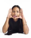 Mulher asiática nova face quadro Imagem de Stock Royalty Free