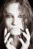 Mulher assustador Imagens de Stock