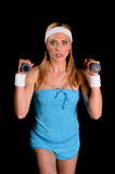 Mulher atlética Foto de Stock Royalty Free