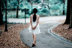 Mulher atrás Imagem de Stock