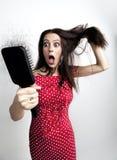Mulher atrativa com queda de cabelo fotografia de stock royalty free