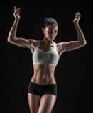 Mulher atrativa da aptidão, corpo fêmea treinado, portrai do estilo de vida Imagens de Stock Royalty Free