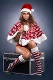 Mulher atrativa do Natal Foto de Stock