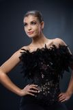 Mulher atrativa no vestido de partido Imagem de Stock Royalty Free