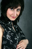 Mulher atrativa nova com um corte de cabelo Imagem de Stock