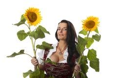 Mulher bávara fotos de stock royalty free