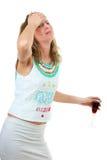 Mulher bêbedo Imagens de Stock