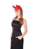 A mulher bonita é diabo Fotografia de Stock Royalty Free