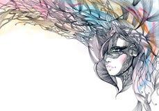 Mulher bonita ilustração royalty free