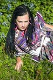 Mulher bonita com as tranças africanas Fotos de Stock Royalty Free
