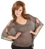 Mulher bonita com atitude Foto de Stock Royalty Free