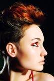 Mulher bonita com cabelo curto Imagem de Stock Royalty Free