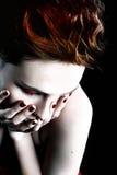 Mulher bonita com cabelo curto Imagem de Stock