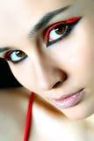 Mulher bonita com cabelo curto Fotografia de Stock