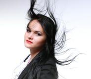 Mulher bonita com cabelo longo Foto de Stock