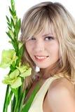 Mulher bonita com cabelo louro Fotos de Stock