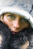 Mulher bonita com chapéu Imagens de Stock