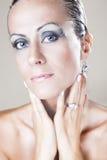 Mulher bonita com composição Foto de Stock Royalty Free