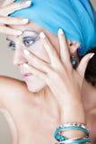 Mulher bonita com composição fotos de stock royalty free