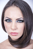 Mulher bonita com composição Fotos de Stock