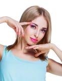 Mulher bonita com composição imagem de stock