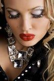 Mulher bonita com composição creativa imagens de stock royalty free