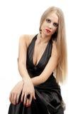 Mulher bonita com composição da noite Imagens de Stock Royalty Free