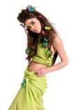 Mulher bonita com composição e penteado fotos de stock royalty free