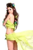 Mulher bonita com composição e penteado da forma fotos de stock royalty free