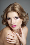 Mulher bonita com composição lindo Fotos de Stock