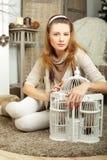 Mulher bonita com composição Fotografia de Stock Royalty Free