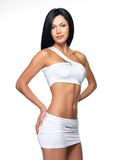 Mulher bonita com corpo magro desportivo Fotos de Stock Royalty Free