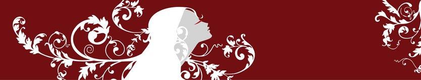 Mulher bonita com flores Ilustração do Vetor