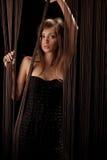 Mulher bonita com linhas foto de stock royalty free