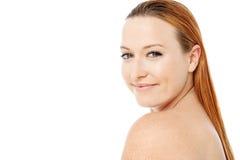 Mulher bonita com ombros desencapados Foto de Stock Royalty Free
