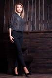 Mulher bonita com pés lindos Imagem de Stock