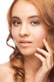 Mulher bonita com pele saudável imagens de stock