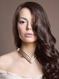Mulher bonita com penteado Imagem de Stock Royalty Free