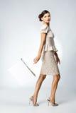 Mulher bonita com saco de compra Imagem de Stock