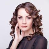 Mulher bonita com tiro do estúdio da composição Fotos de Stock