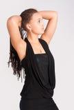 Mulher bonita com tranças africanas Fotos de Stock Royalty Free