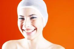 Mulher bonita com um sorriso bonito. fotografia de stock royalty free