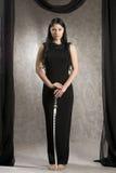 Mulher bonita com uma espada foto de stock royalty free