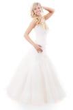 Mulher bonita com vestido de casamento imagens de stock royalty free