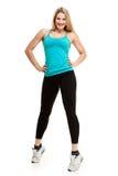 Mulher bonita da aptidão da ginástica aeróbica Foto de Stock Royalty Free
