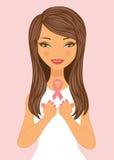 Mulher bonita da consciência do cancro da mama Fotografia de Stock Royalty Free
